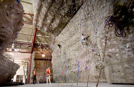 Go rock climbing at Chelsea Piers
