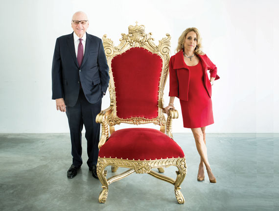 Douglas Elliman Chair Howard Lorber, Corcoran Group CEO and Pam Liebman