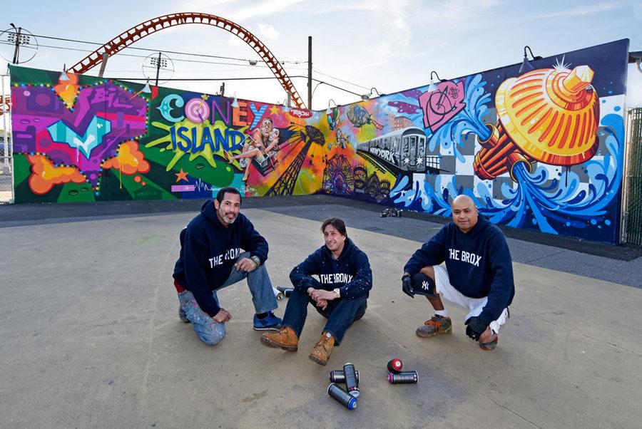 Tats-Cru at Coney Art Walls. Image via  tatscruwebsta