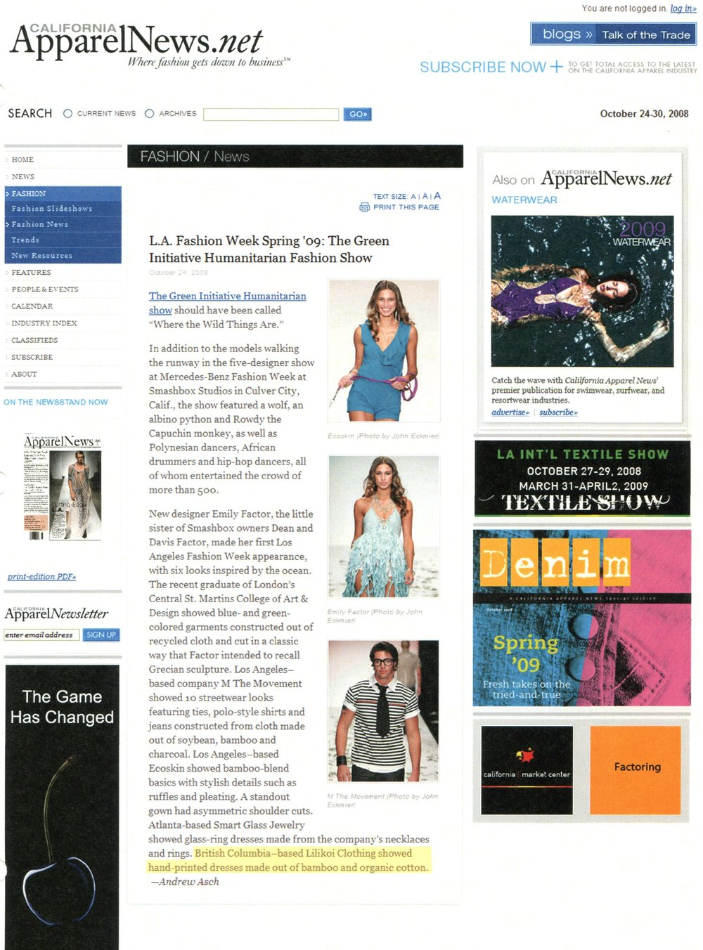 California Apparel News.net oct.2008.jpg