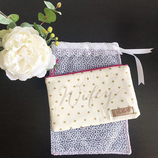 A lucky bride to be finally received this lovely Wifey bag so I can now share it with you. Custom made just for her, with her sweet October wedding date! #iloveweddings #owlmadelovely