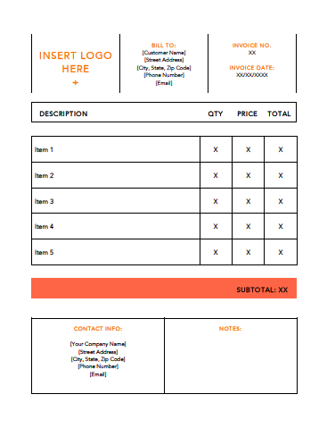 Small Orange Invoice Template Example2.png