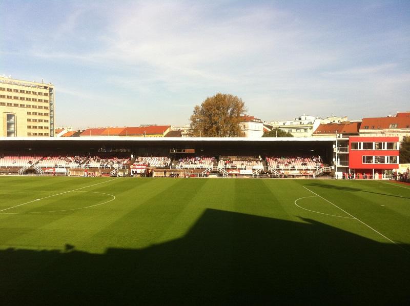 Die eFotbal Aréna in Prager Stadtteil Zizkov.