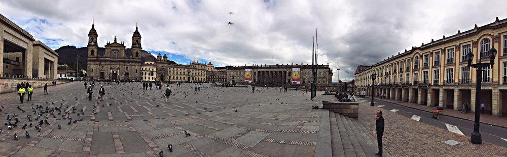 Plaza de Bolívar, Bogotá, Kolumbien.