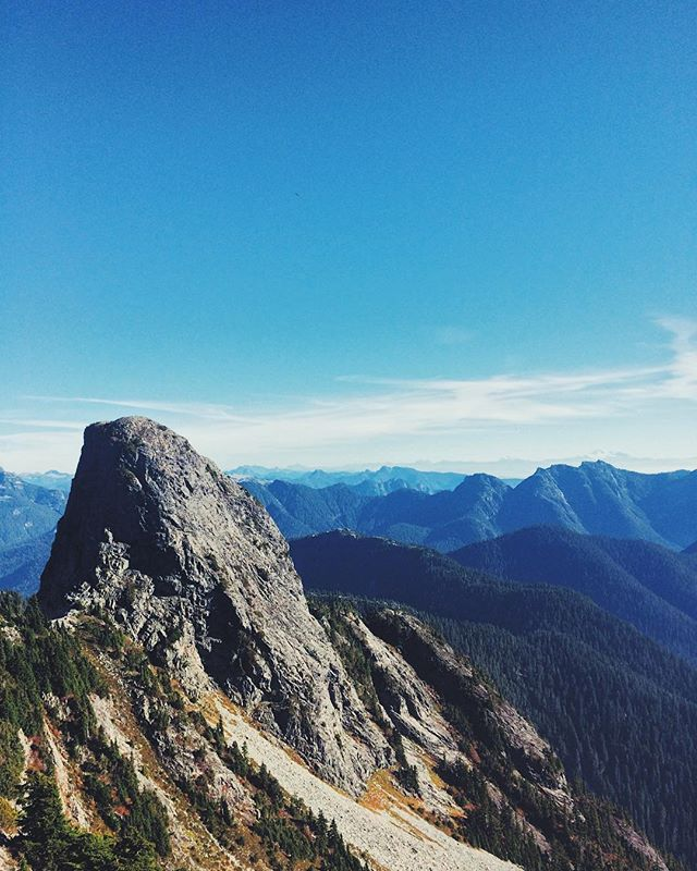 Another week, another summit. __________ #view #mountains #hike #sky #beautifulbc