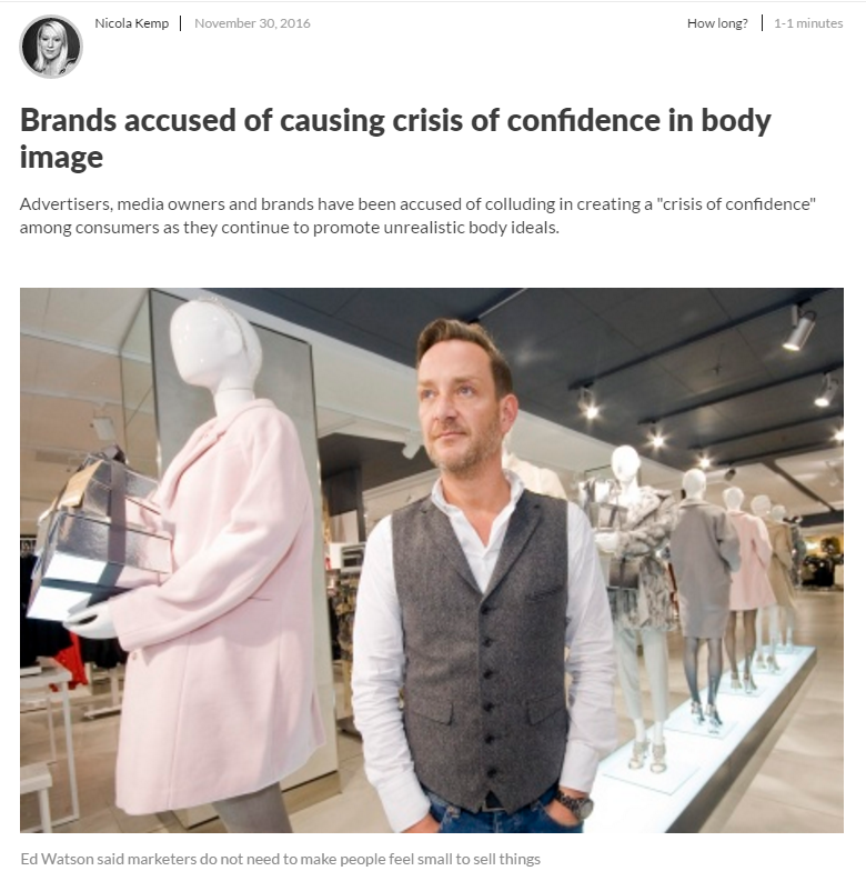 Brands accused of causing crisis of confidence in body image