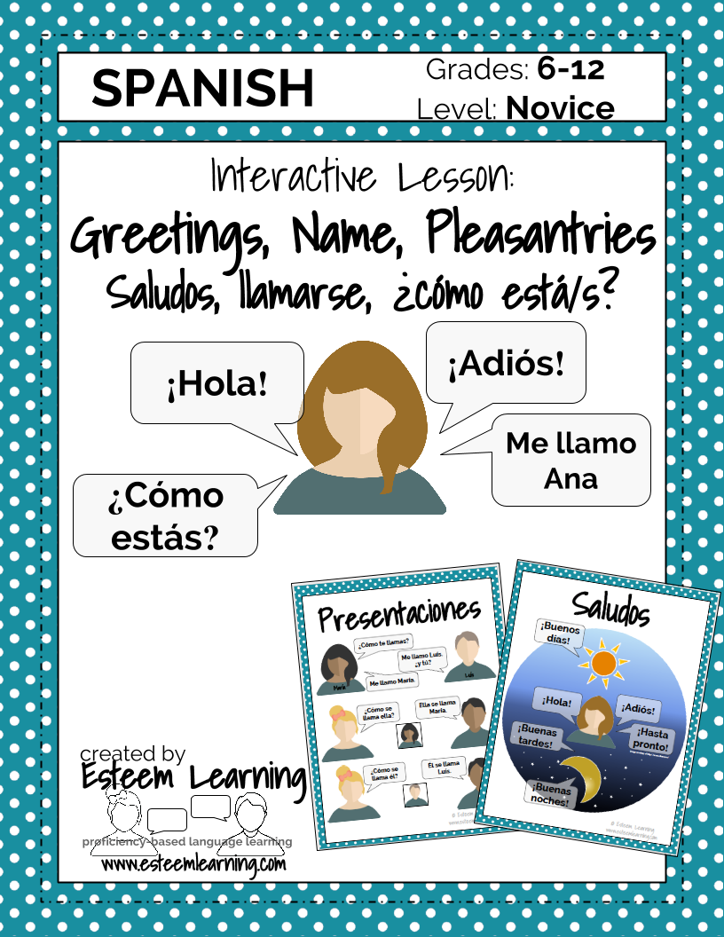 Updated Product Spanish Lesson On Greetings Name And How Are
