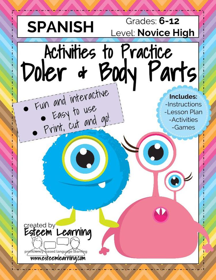 Updated Product Body Parts And Doler Games Activities For