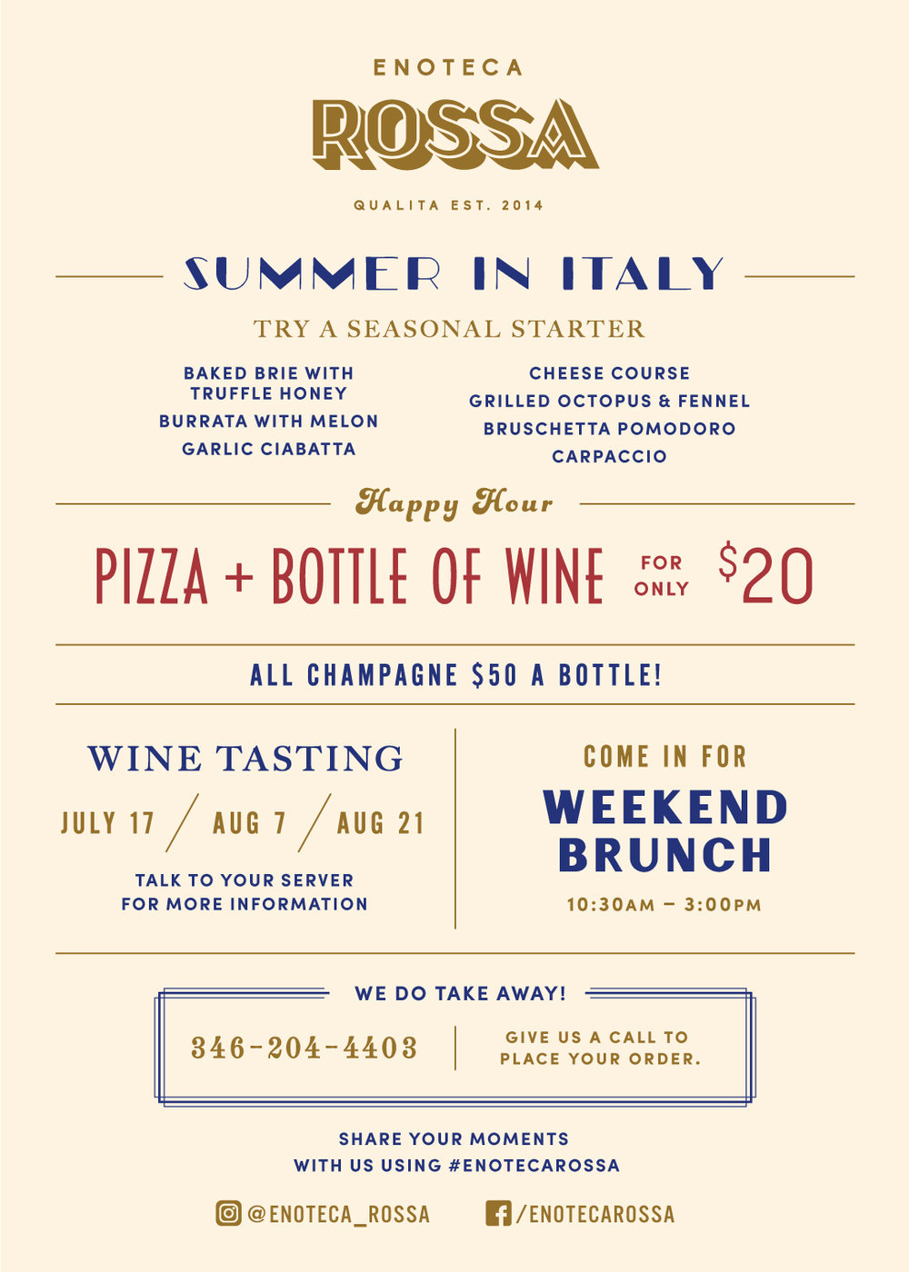 Enoteca Rossa Houston best italian wine brunch bellaire