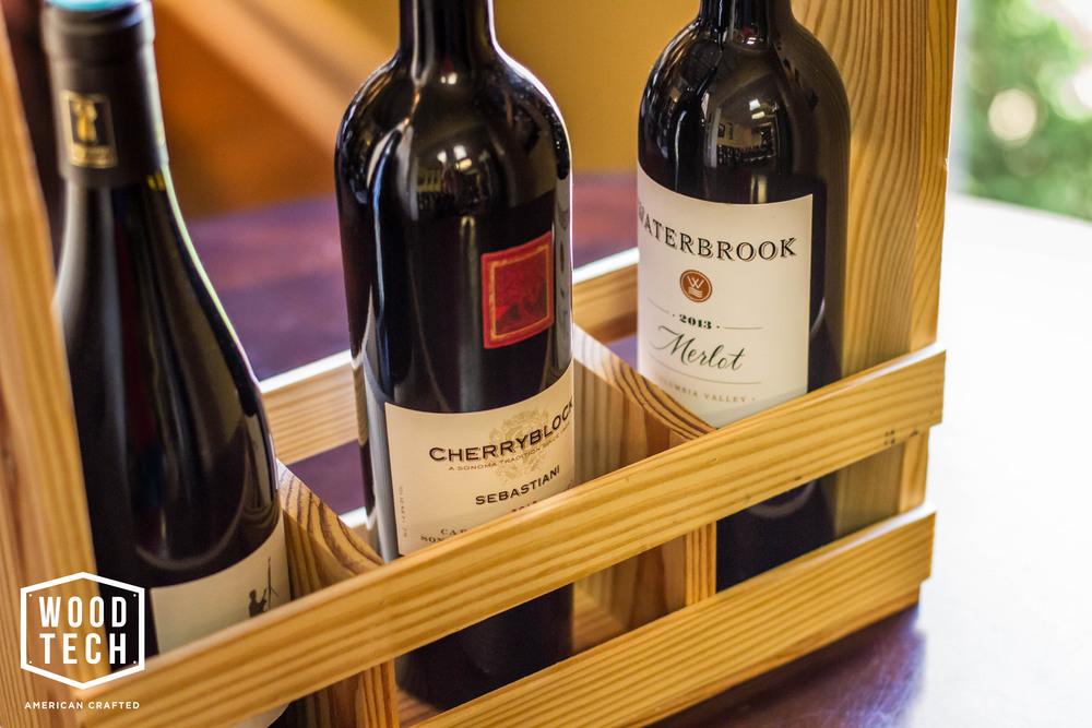 Custom Wood Wine Carrier