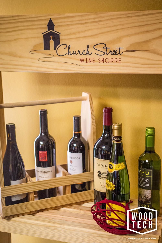 Custom Wood Wine Carrier Alternate View