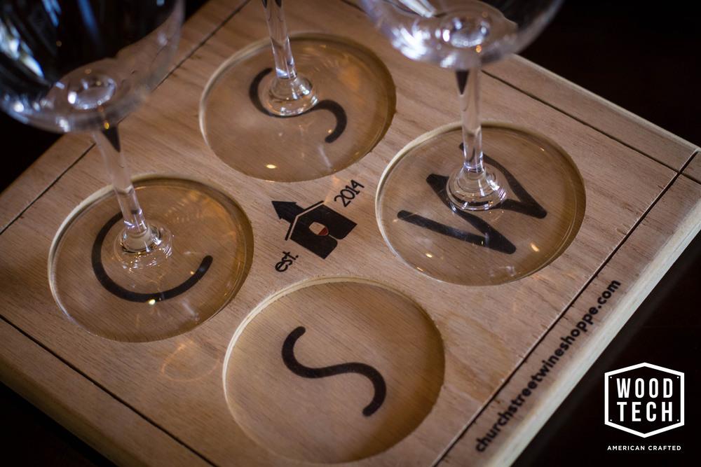 Custom Wood Wine Glass Carrier