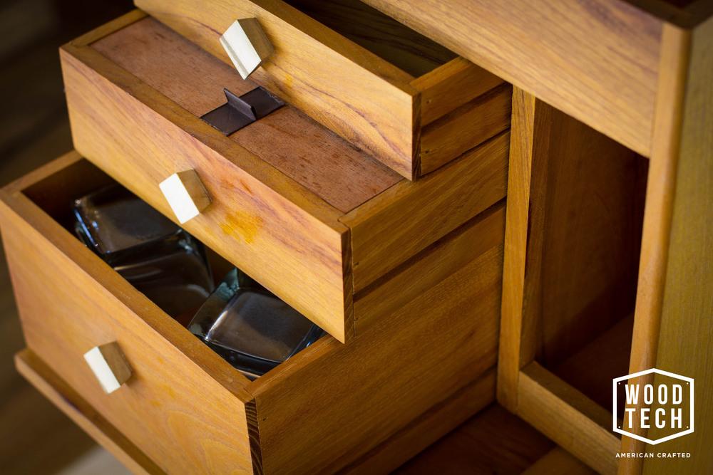 Custom Wood Box with Drawers