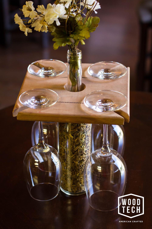 Custom Wood Wine Glass Holder