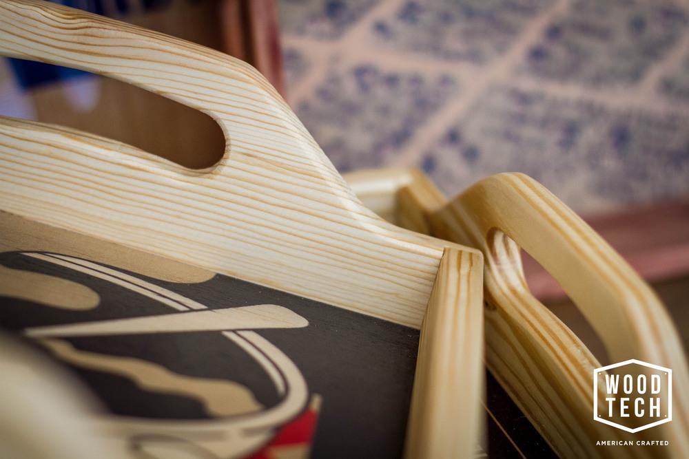 Custom Wooden Tray Detail 1