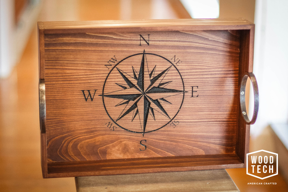 Custom Wood Tray with Routed Design