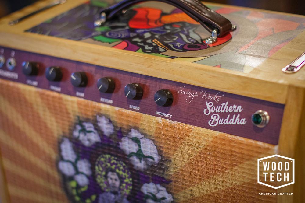 Custom Printed Guitar Amp Faceplate