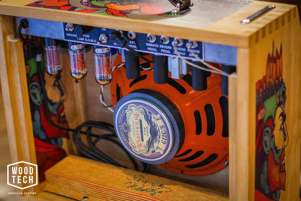 Custom Printed Guitar Amp Cabinet Rear