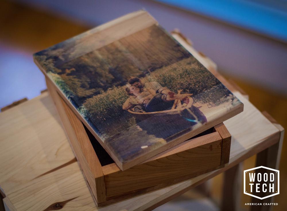 Custom Wood Memory Box with Printed Top