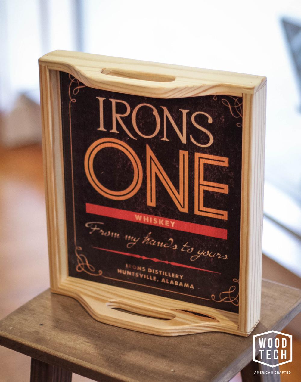 Custom Irons One Distillery Wood Tray 2