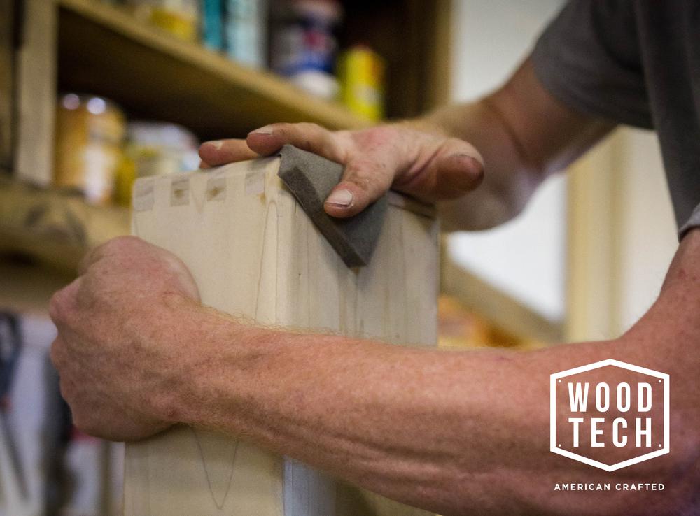 Woodtech sanding image