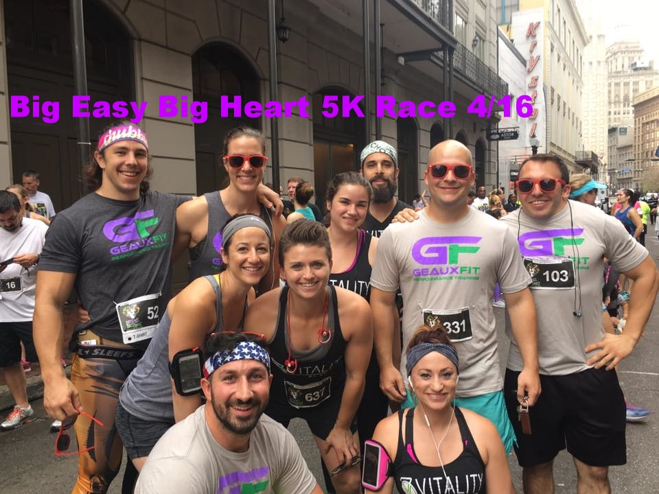 New Orleans Big Heart Big Easy Charity 5k run