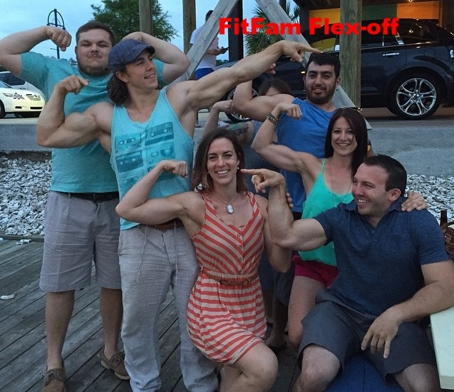flex friday doesn't have to be in the gym; out having drinks in New Orleans showing off our biceps