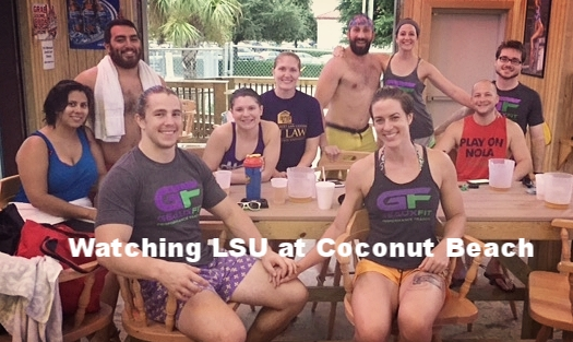beach volleyball at coconut beach with the fitfam