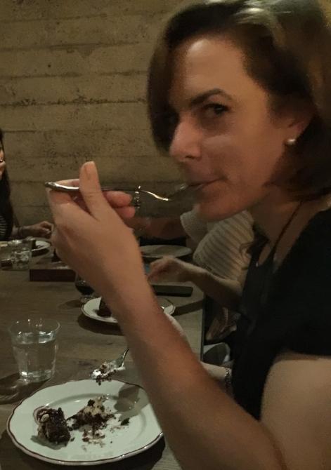 I eat birthday cake! On my birthday, not always on other's birthdays :)