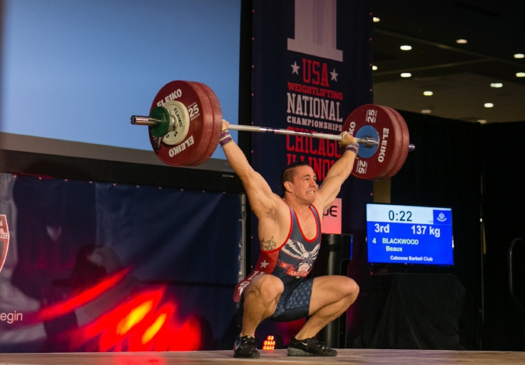performing an olympic weightlifting snatch in Metairie New Orleans