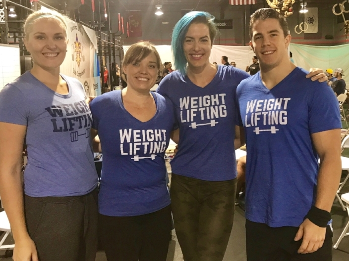 Caboose Weightlifting members competing at Redline Athletics