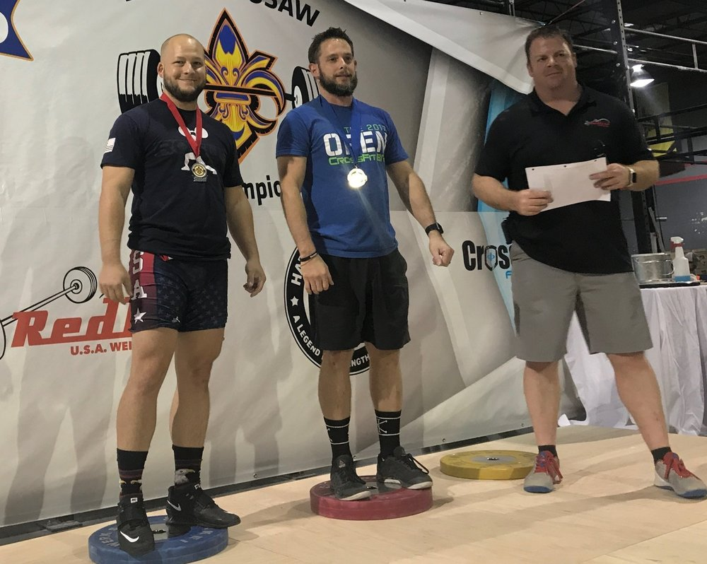 Caboose Barbell Club silver medal weightlifting competition
