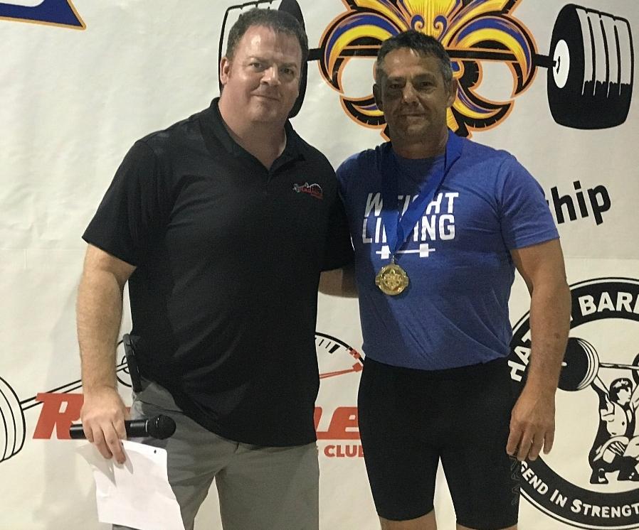 Master Weightlifter gold medal winner Caboose Barbell Club member