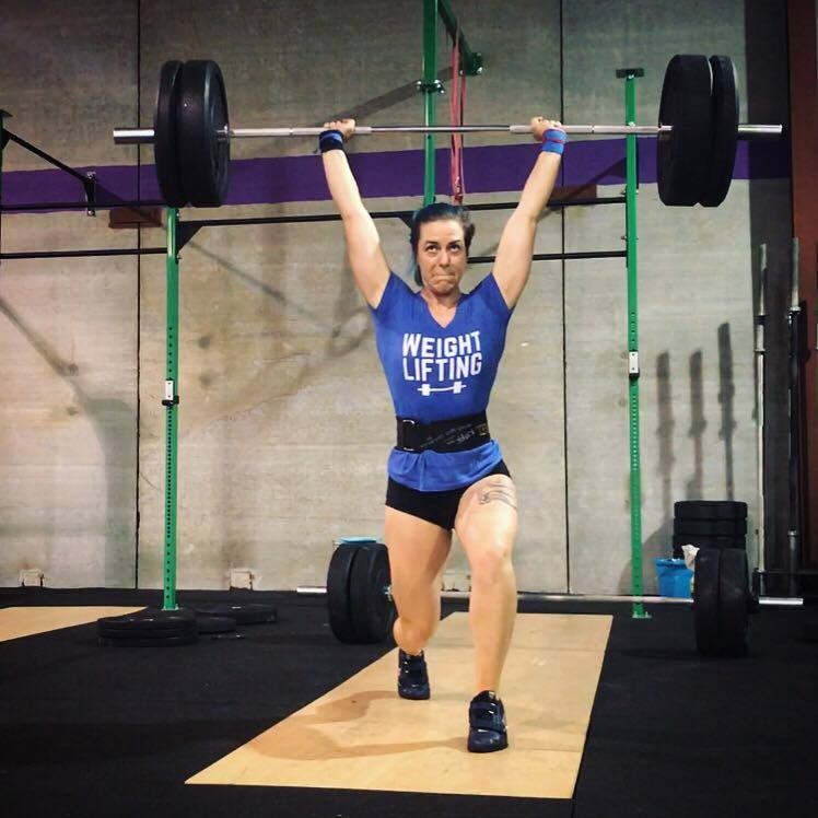 weightlifting jerk with good form at GeauxFit Training gym in Metairie New Orleans