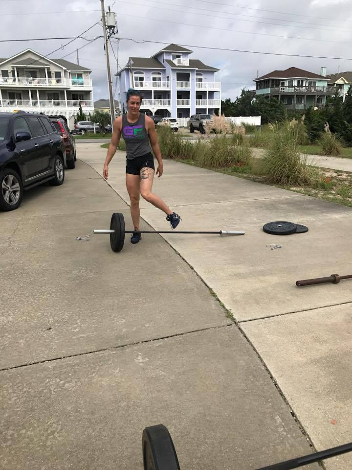 weightlifting on vacation