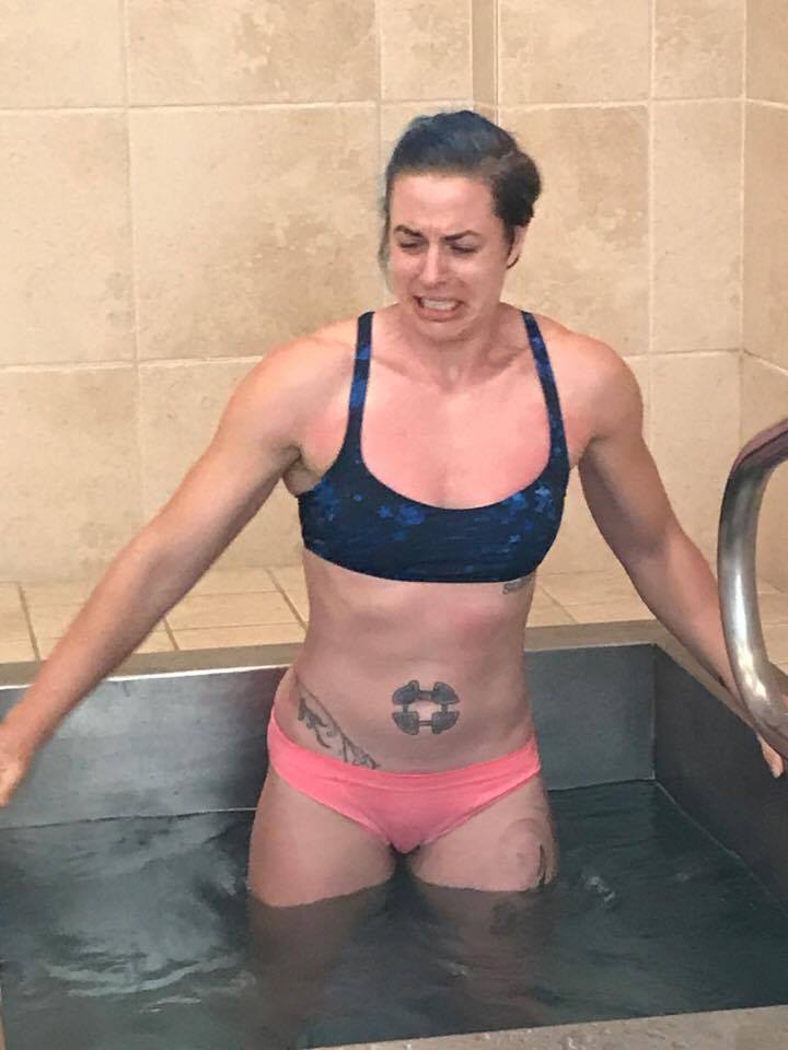 cold immersion plunge to help DOMS