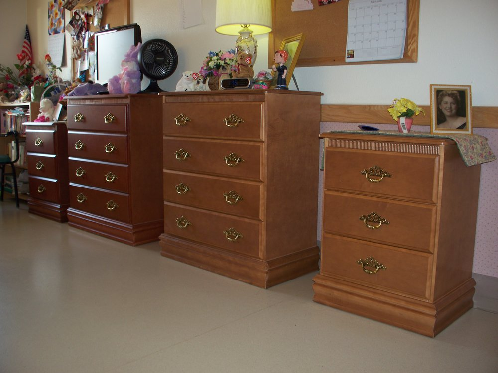 Dressers for each resident's room at Extended Care