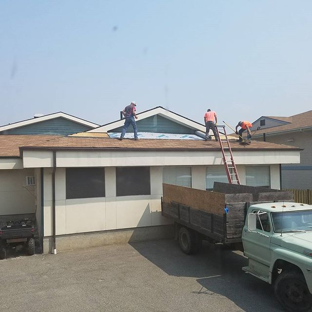 The new roof is finally coming to North Valley Extended Care!!!