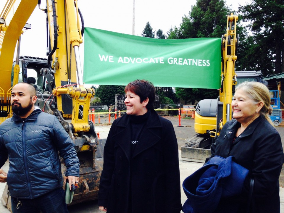(left- Ben Abiles, middle- Principal Elizabeth Jensen, and former Open school board member Suzanne Nolan to the right)  Hundreds of students who are the most likely to drop out will soon have another option as Open School expands in Multnomah County. Open School, formerly known as Open Meadow, broke ground Thursday on its new Rockwood school. The new school will serve students who show signs of struggling as early as sixth grade, adding a new grade every year for the next four. By 2019, the school aims to enroll about 270 students in grades 7-12.