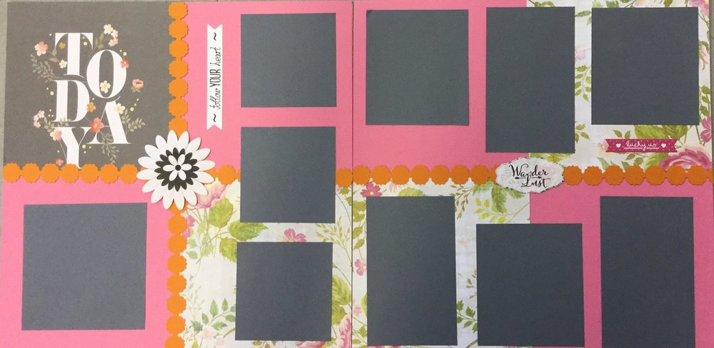 March 15 BYOP Pre designed scrapbook page layouts