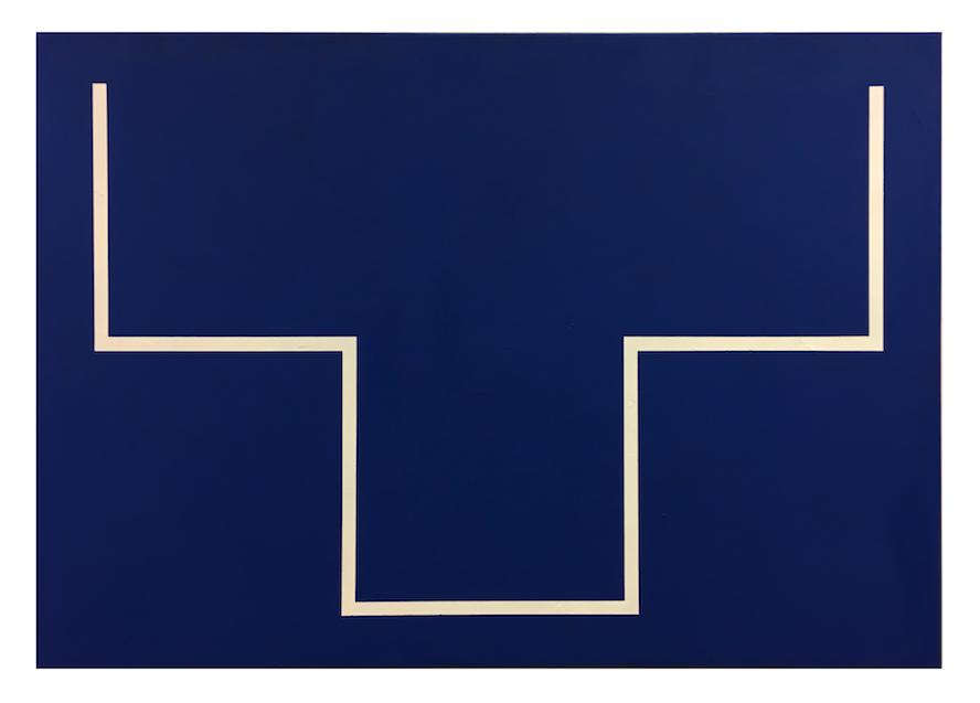La Línea, 2016. Acrílico sobre lienzo 70 x 100 cm