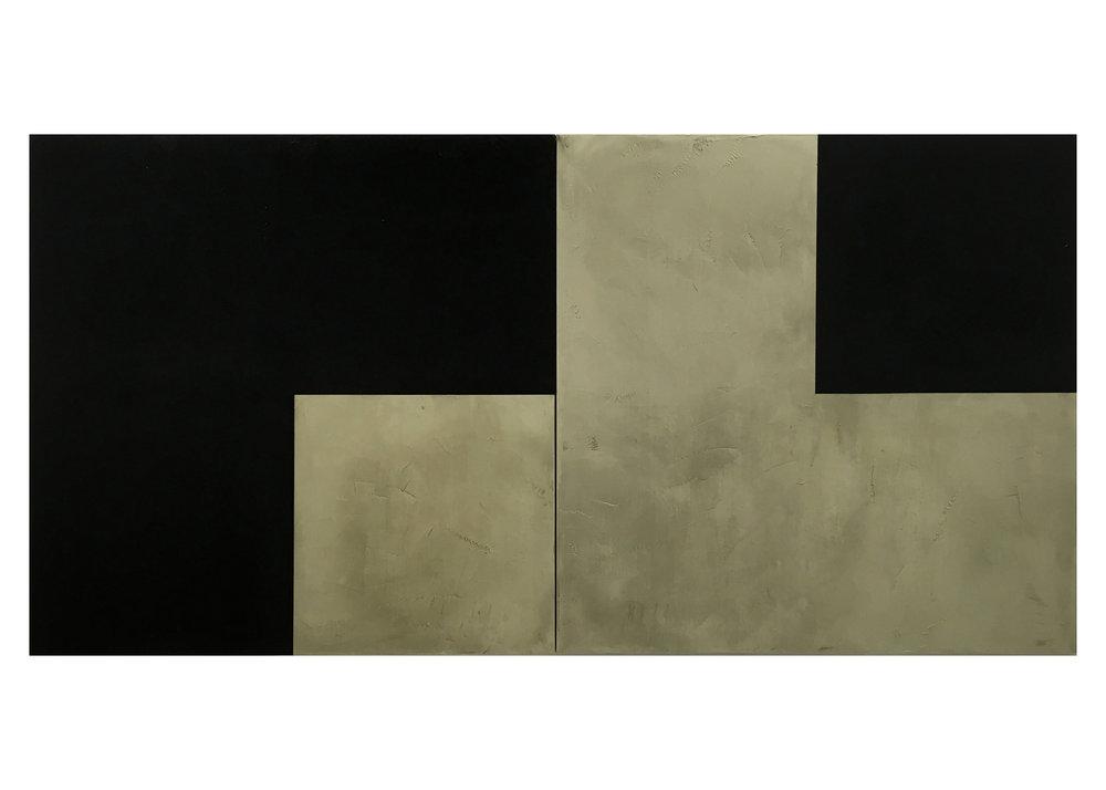 Side by Side Acrílico sobre lienzo 2 x 1 x 1 cm