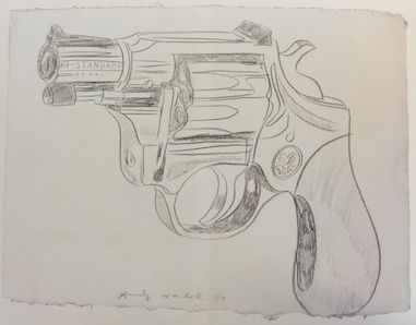 Gun,  1981. Pencil on paper. 60 x 80 cm. NOT FOR SALE