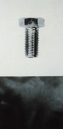 Bolt,  1987. Black and white photograph mounted on board. 154,9 x 76,1 cm.