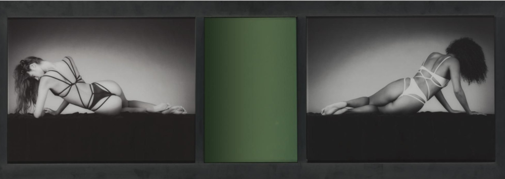 Mirror Image, 1987. Two gelatins silver prints and coloured mirror plate. 47,2 x 134,7 cm.