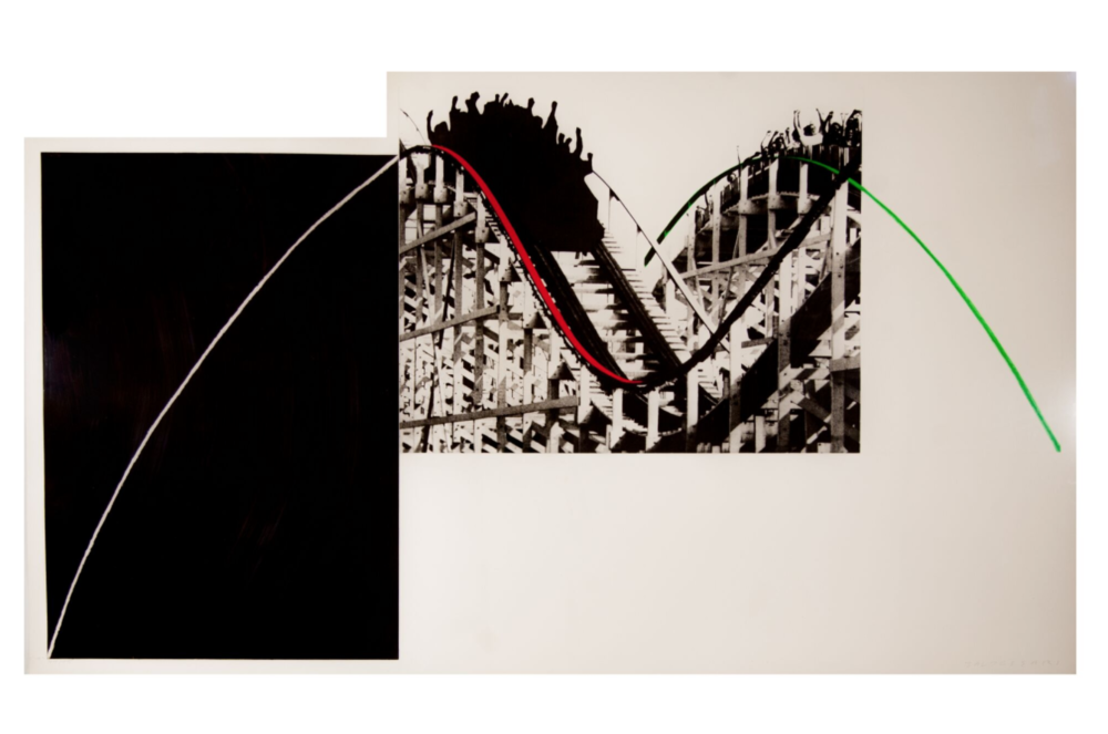 Rollercoaster, 1989. Photogravure with watercolor ink printed on paper Somerset Satin 410G. 99 x 171,5 cm.