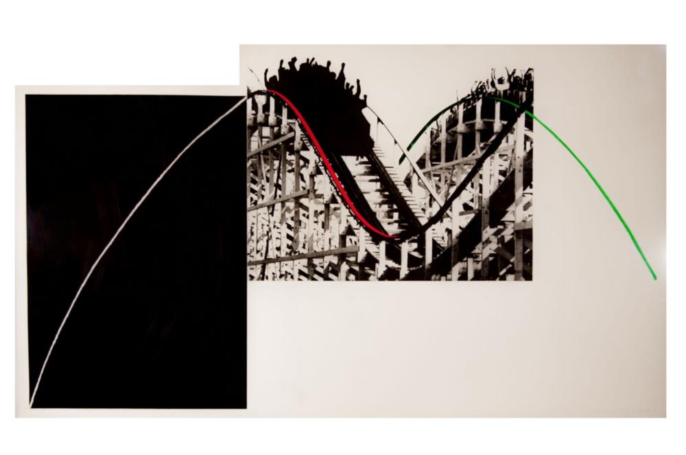 Rollercoaster, 1989. Fotograbado con aguatinta a color impreso en papel Somerset Satin 410G. 99 x 171,5 cm.
