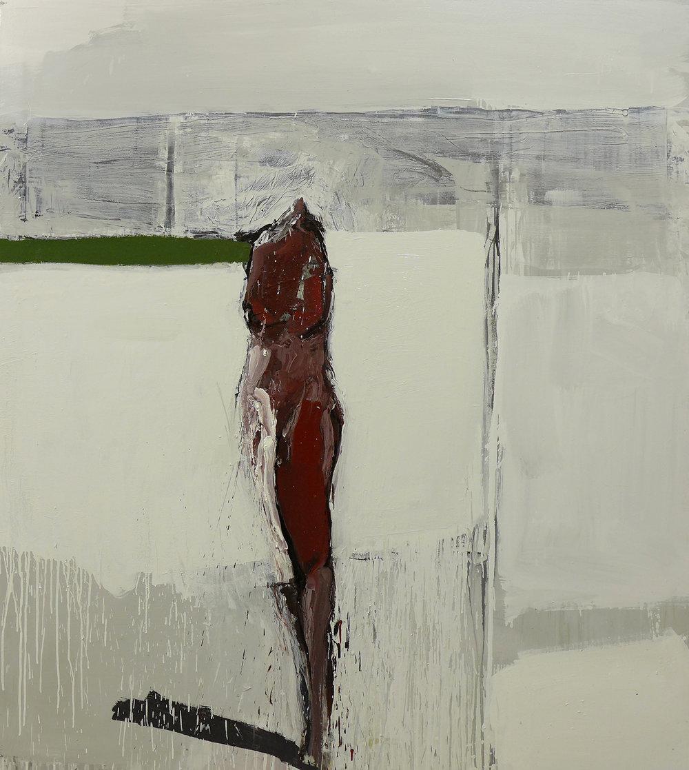 Alegoría de la espera, 2016 Óleo sobre lienzo 170 x 150 cm