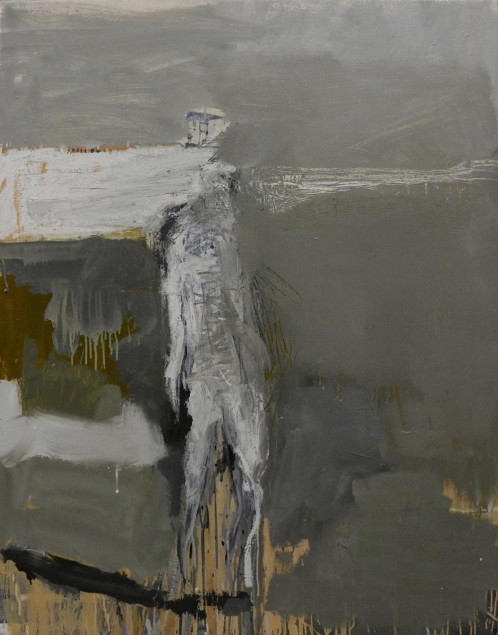 Hombre sin título, 2016  Óleo sobre lienzo 130 x 100 cm