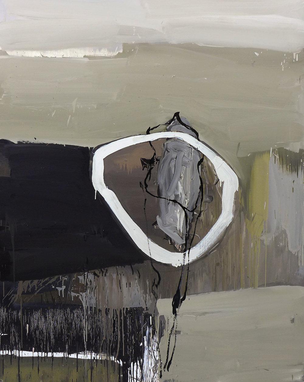 Autorretrato como mujer metafísica, 2016 Óleo sobre lienzo 170 x 130 cm